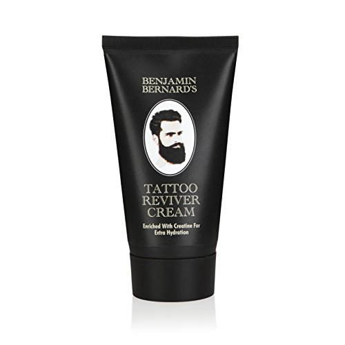 Benjamin Bernard Tattoo Reviver Cream - Tattoo-Auffrischungscreme - lässt Tattoofarben wieder erstrahlen & spendet 24 Stunden Feuchtigkeit - angereichert mit Kreatin und natürlichen Ölen - 150 ml