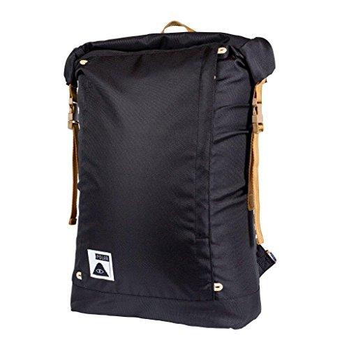 Öse-blk Leder (POLER Rucksack Bag Rolltop Pack, Black Sp16, 50 x 40 x 6 cm, 21 Liter, POLBAG_ROLP)