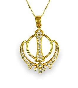 Genuine 925 Sikh Khalsa Khanda Pendant