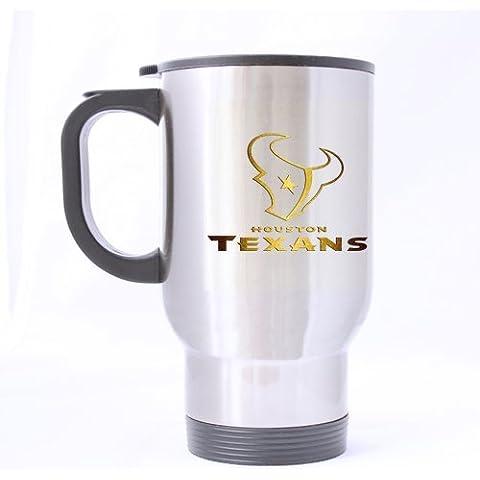 Houston Texans café ARTSWOW patrón de la novedad de la botella de agua de té taza de viaje de 14 oz