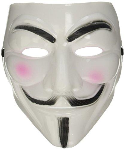 2015 NUOVO V per Vendetta Maschera con Eyeliner narice Anonymous Guy Fawkes Fancy Adult Costume Accessori Halloween Maschera Boolavard Ltd