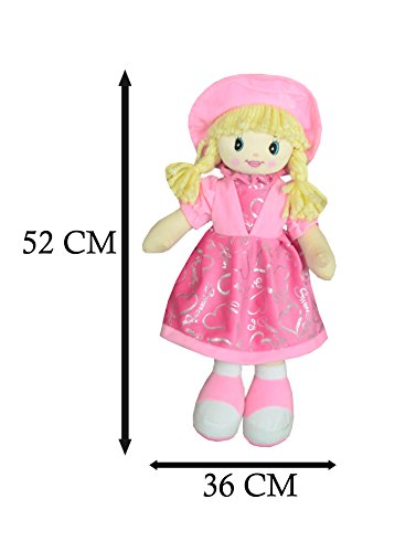 A.R. Internal Soft Toys Baby Doll with Cap (Light Pink)