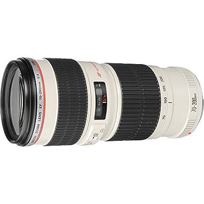Canon EF 70-200mm f/4L USM - Objetivo para Canon (distancia focal 70-200mm, apertura f/4-32, zoom óptico 2.8x,diámetro: 67mm) blanco