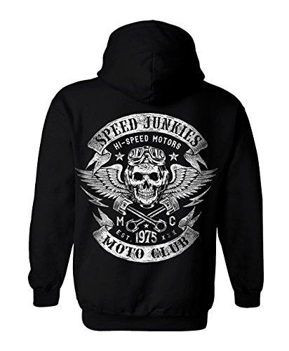Trillest Gear Herren Vintage Biker Motorrad Skull Zip Sweat-Jacke  Speedjunkies Moto Club-M 067c563257