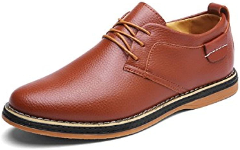LYZGF Herren Jugend Frühling Und Herbst Business Casual Wear Super Faser Spitze Schuhe