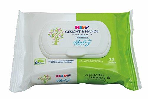 HiPP Babysanft Gesicht und Hände Tücher 1 x 20 Stück, 6er Pack (6 x 20 Stück)