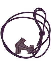 Más populares en Estados Unidos y Reino Unido sólido latón colgante martillo de Thor collar con auténtico Cable de espuma y latón envejecido, 42x 33x 3mm.