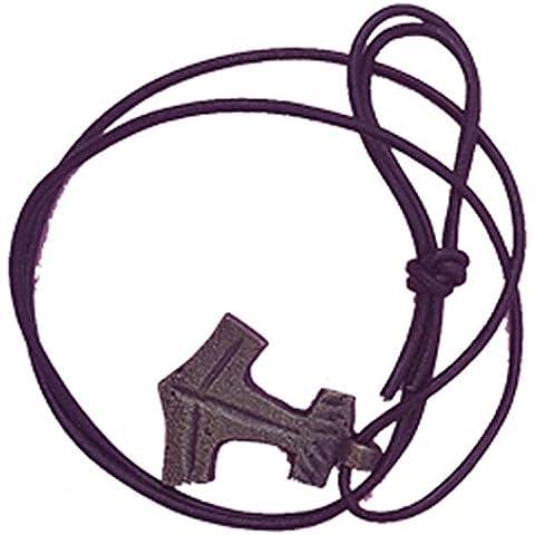Più Diffusi in Stati Uniti e Regno Unito in ottone massiccio ciondolo martello di Thor collana con corda di schiuma vera e ottone anticato 42x 33x 3mm.