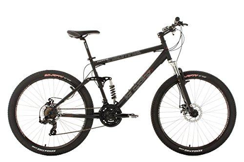 KS Cycling Fahrrad Mountainbike Vollgefedert, Schwarz, 27.5