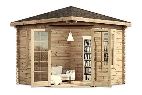 Modernes 5-Eck Holz Gartenhaus VICTOR