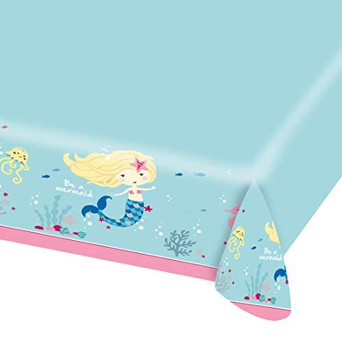 e a Mermaid / 120 x 180 cm / Bezauberndes Tafeltuch Kleine Nixe / Genau richtig zu Kindergeburtstag & Sommerfest ()