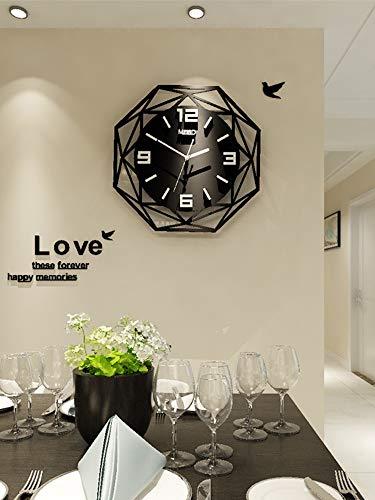 XIXIGZ Relojes De Pared Reloj Europeo Reloj De Pared, Sala De Estar, Moderno, Minimalista, Reloj, Personalidad, Moda, Reloj, Ambiente De Hogar, Reloj De Cuarzo Decorativo, 35 × 35 Cm