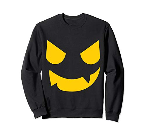 Gruseliges Kürbisgesicht Halloween Kostüm Jackolantern Sweatshirt