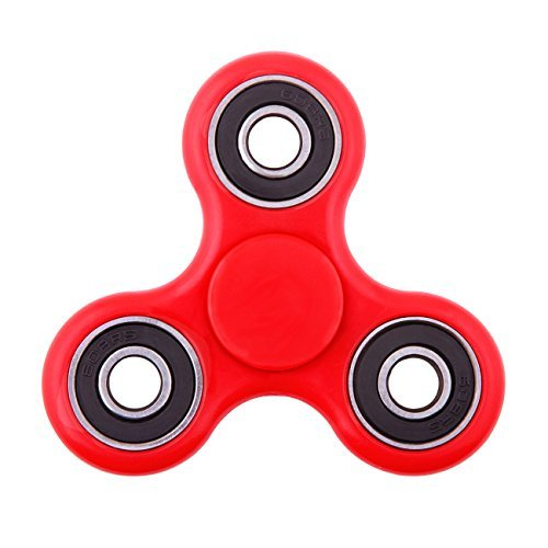 The Anti-Anxiety 360 Spinner Helps Focusing Fidget Toys [3D Figit] Premium Quality EDC Focus Toy for Kids & Adults - Best Stress Reducer Relieves ADHD Anxiety and Boredom Cube Bearing (red)