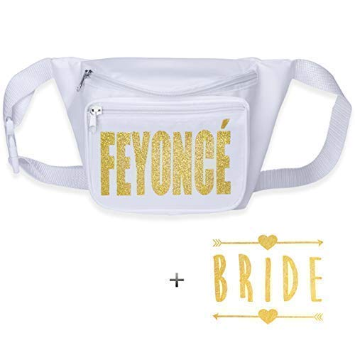 Bachelorette Party Braut Squad Fanny Pack mit Brauttattoo, White Feyonce