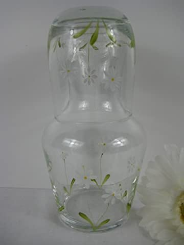 Hand Painted Spring Daisy Design Carafe