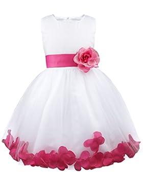 Freebily Blumenmädchen Kleider Mädchen Festliches Tutu Kleid Hochzeitkleider Kinder ärmellose Partykleider Chiffon...