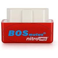 Nitro OBD2 Diesel Chip Tuning Box, 35% más BHP + 25% más de par. apto Para el Modelo de Propósito General de Diesel Cars 1996. - Rojo