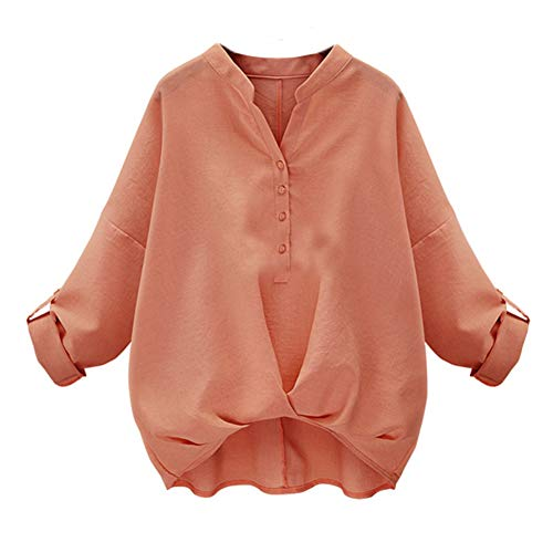 Morbuy Damen Sweatshirt, Casual Pullover Langarm T-Shirt Rundhals Ausschnitt Lose Bluse Oberteil Hemd Oversize Tops Sweatjacke Sport (s, Rosa) (Sweatshirt Damen Abercrombie)