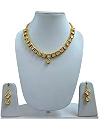 Necklace Set With White Stone And Earrings
