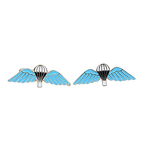 British Parachute Wings Cufflinks with Presentation Box
