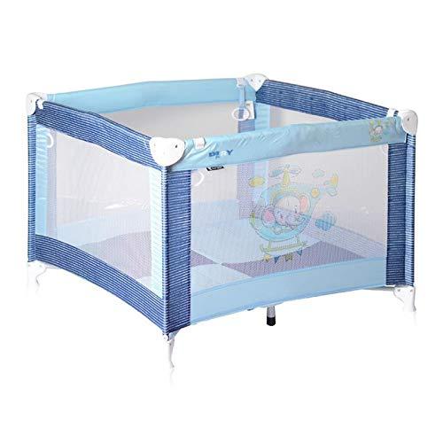Lorelli Reiselaufstall PLAY, Laufstall klappbar mit Spieldecke, Greifringen blau