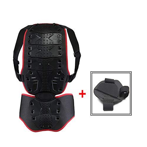 TZTED Motorrad Körper Rüstung Gear Back Spine Schutzkleidung Motorrad, luftdurchlässiges Komfortgewebe, integrierter Nierengurt,Black