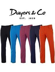NUEVO 2015DWYERS & CO para hombre movimiento Pro Golf pantalones de invierno viento repelente de agua pantalones