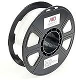 AIO Robotics Premium 3D Drucker Filament, PLA Silk, 0,5 kg Spule, Genauigkeit +/- 0,02 mm, Durchmesser 1,75 mm, Weiße Seide
