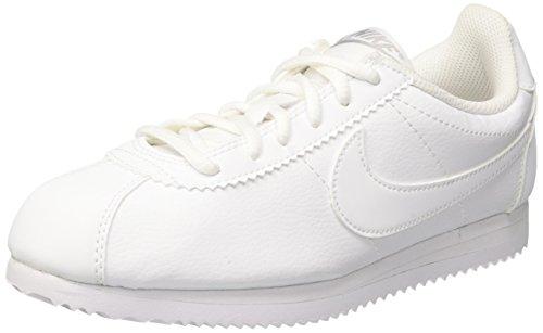 Nike Cortez (Gs), Scarpe da Corsa Bambina Bianco (White/white-wolf Grey)