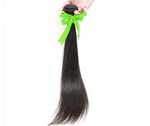 Junsi 18 inch 50g 100% Brazil Clip in Real Human Hair Extensions Black Brazilian Hairs Behaarung (Hair Extensions Clip-in 18)