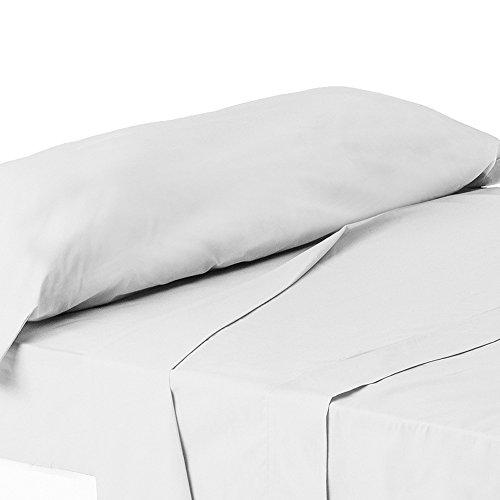 ForenTex - Juego de sábanas de 3 piezas, (X-4002), blancas, cama 150...