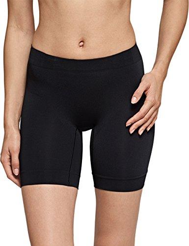 Schiesser Damen Longshorts Seamless Light Hipster, (schwarz 000), 44 (Herstellergröße: XXL)