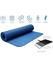 Strauss TPE EcoFriendly Yoga Mat 6mm Purple