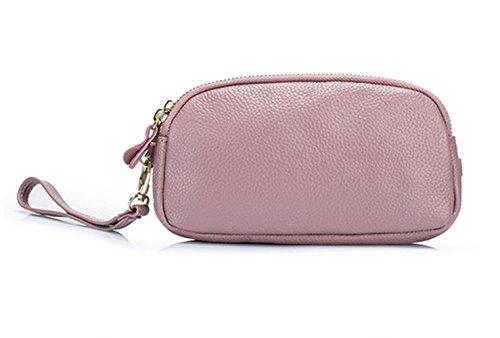 MeiliYH 2017 Sacchetto di mano delle signore di doppietta di modo del pacchetto del sacchetto di mano del modello del Lychee di nuovo colore solido amido_di_radice_di_loto