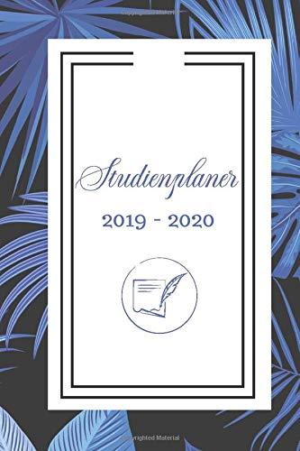 Studienplaner 2019-2020: Studienplaner 2019 2020: Taschenkalender, Studentenkalender und Semesterkalender 2019 - 2020 | Planer, Terminplaner und ... und Kontakten, Geschenk Idee, Palmen Cover