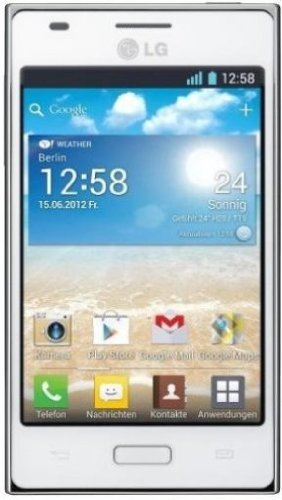 LG E610 Optimus L5 Smartphone (10,2 cm (4 Zoll) Touchscreen, 5 Megapixel Kamera, UMTS, WiFi, Android 4.0) weiß (L5 Lg)