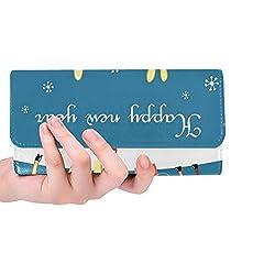 Einzigartige benutzerdefinierte Weihnachtskarte Moose Frauen Trifold Brieftasche Lange Geldbörse Kreditkarteninhaber Fall Handtasche