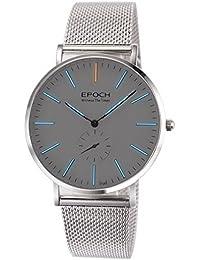 Epoch 6025G 50m Wasserdicht Tritium blau Luminous Ultrathin Case Schutzhülle Stahl Business Herren Quarzuhr Armbanduhr