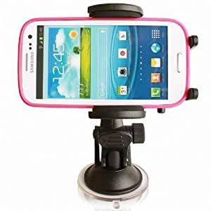 High Grade LG Optimus G / G Pro / G2 Flexible Windshield Dash or Vent Mount Cradle Holder (For Use with Skin, Bumper or Hard Case Protector)
