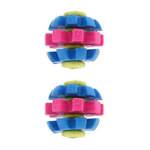 perfk 2pcs Hundespielzeug katzenspielzeug Gummi Kauspielzeug mit Zahnpflege-Funktion für Hunde und Katzen - Typ 2 (Typ 2 Funktion)