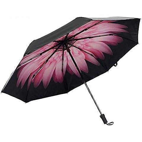 Protezione UV Biscount Daisy-Ombrello parasole, colore: nero