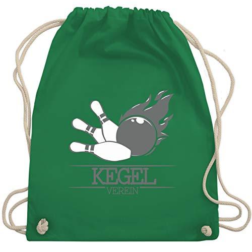 Bowling & Kegeln - Kegel Verein Kugel Flamme - Unisize - Grün - WM110 - Turnbeutel & Gym Bag -