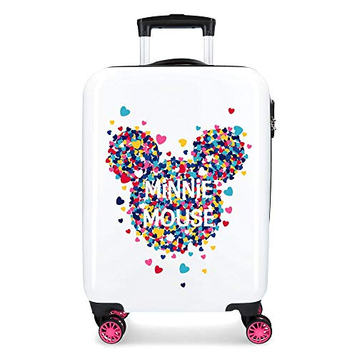 Maleta cabina Minnie Magic corazones rígida 55cm