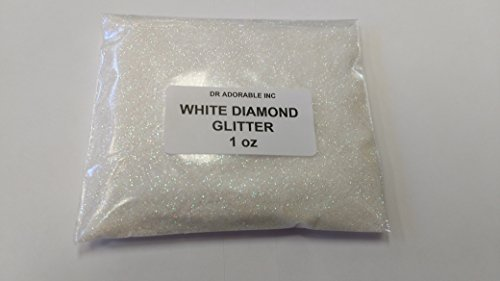 1 OZ WHITE DIAMOND GLITTER FOR SOAP COSMETIC BY DR.ADORABLE