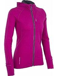 Icebreaker quantum veste à capuche et manches longues pour femme