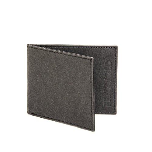 FRITZVOLD ® Kleiner dünner Geldbeutel Herren ohne Münzfach mit RFID-Schutz in schwarz   Kleine Geldbörse, Slim Wallet, Brieftasche, extrem flaches Portmonee