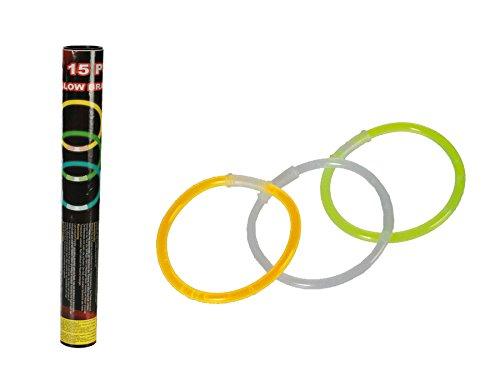 Preisvergleich Produktbild Knicklicht Glow ca. 20 cm 15 Stück Leucht Armband Stab Knicklichter Partylichter