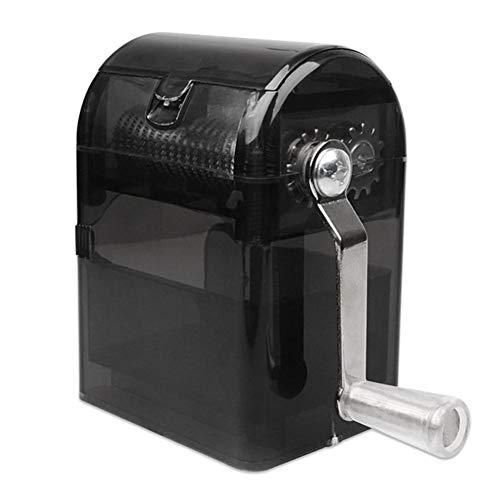 Outtybrave Hand-Tabakzerkleinerer, Handrauch, Kräutermühle, manuelle Tabakmühle 44 * 77MM Schwarz