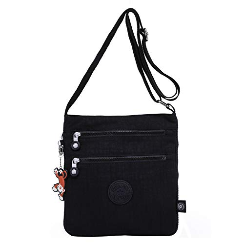 TEGAOTE Women Messenger Bag Expandable Cross Body Bag Casual Shoulder Bag  for Travel Side Pack Fashion 5e89bb07b54d2